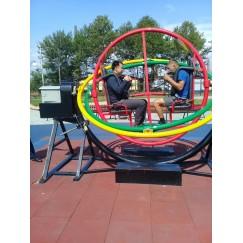Аттракцион Space ball, шар-космос  гироскоп