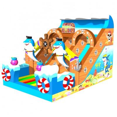 надувная лодка для дельфинов  inflatable dolphin slide