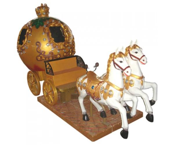 Аттракцион качалка царская карета